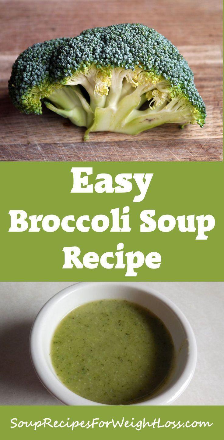 Easy Broccoli Soup Recipe  #soup #recipes #weightloss
