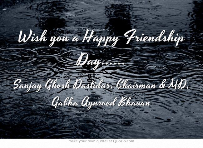 Wish you a Happy Friendship Day......