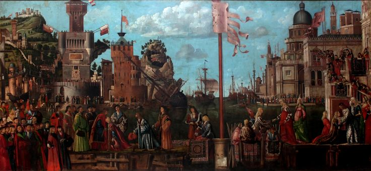 Vittore Carpaccio, meeting and departure of engaged couples