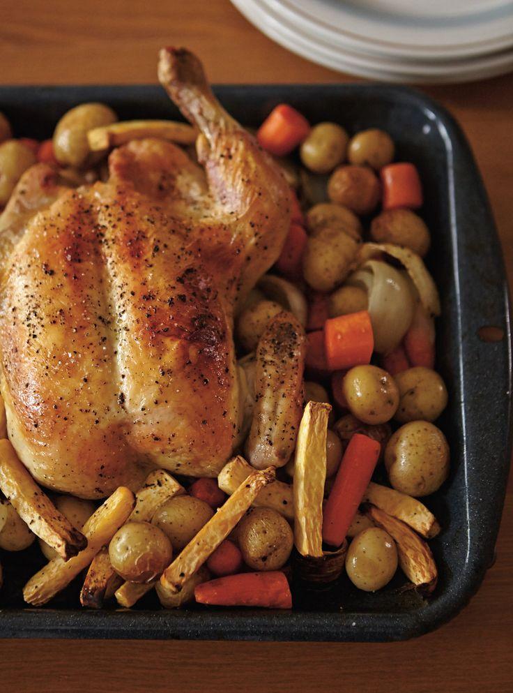 Recette de Ricardo de poulet rôti aux légumes
