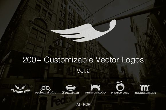 Vol.2 +200 Fully Customizable Logos by SmartyBundles on Creative Market
