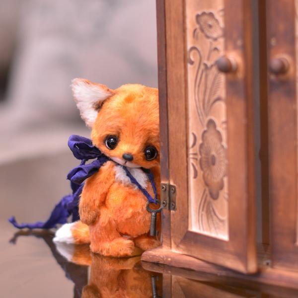 [SOLD] ''Eugene'' little fox - OOAK 4,8 / Teddy Bears & Pals / Teddy Talk…