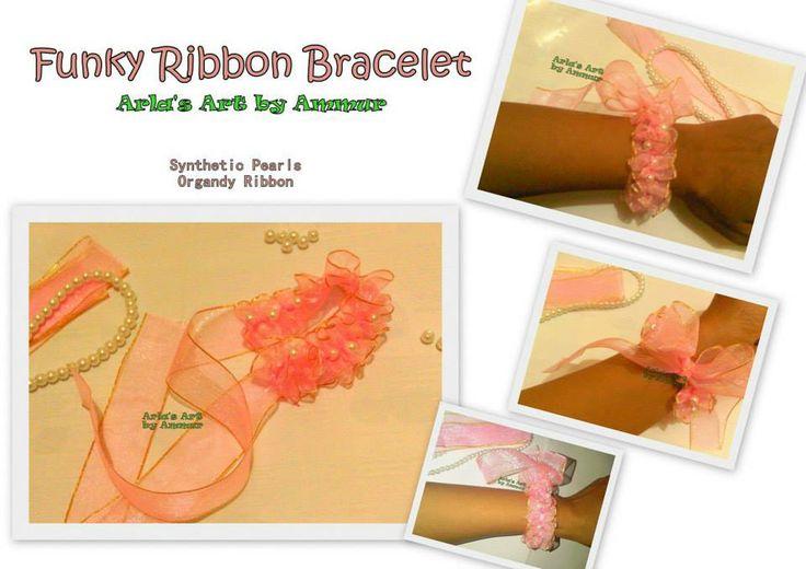 Funky Ribbon Bracelet... Pretty Pink! :-)