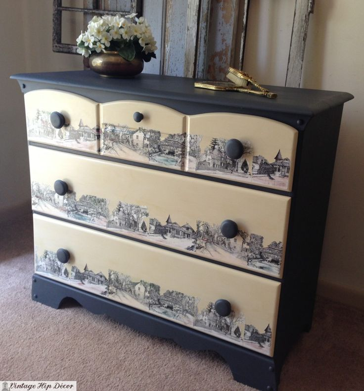 Decoupage Images Onto Painted Furniture. Decoupage IdeenWie Decoupage MöbelBemalte  ...