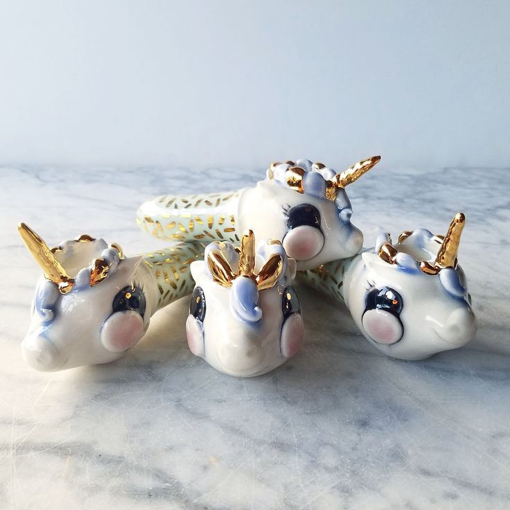 Seattle ceramics artist Katie Marks also makes tiny, smokeable kitten and geode pipes.