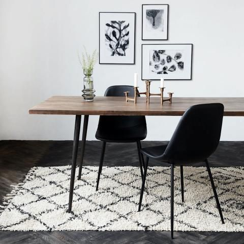 House Doctor Ivory And Black Zena Rug Trouva