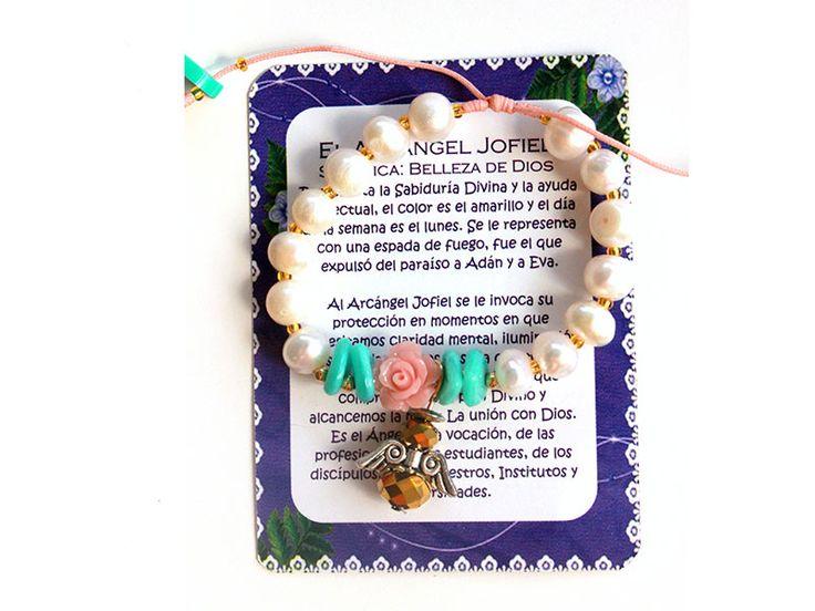 Pulso Arcangel Jofiel perlas mostacilla Ref. 126