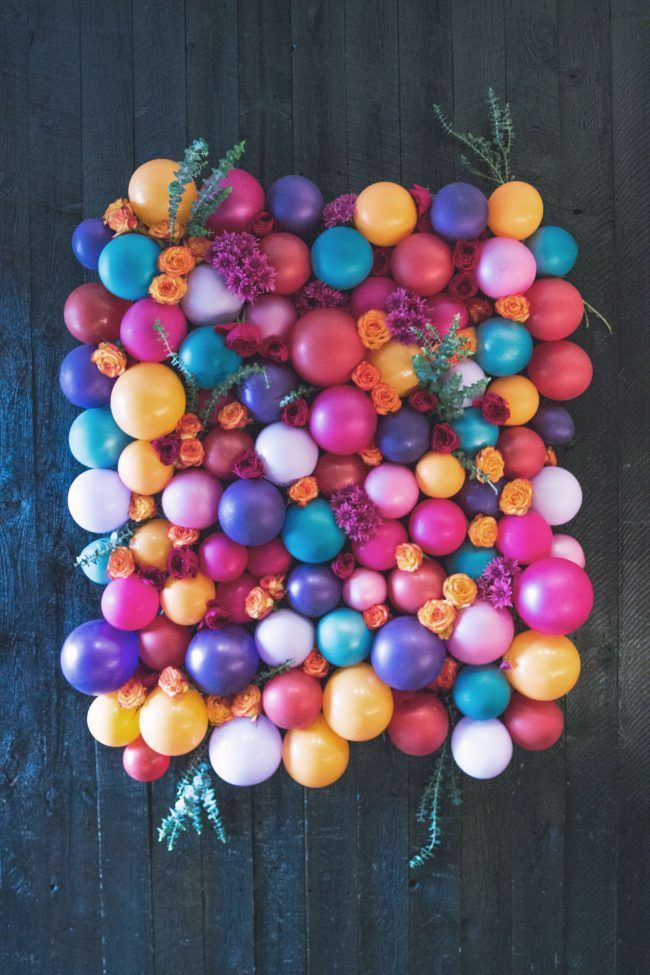 Balloons and Blooms Photo Booth Backdrop