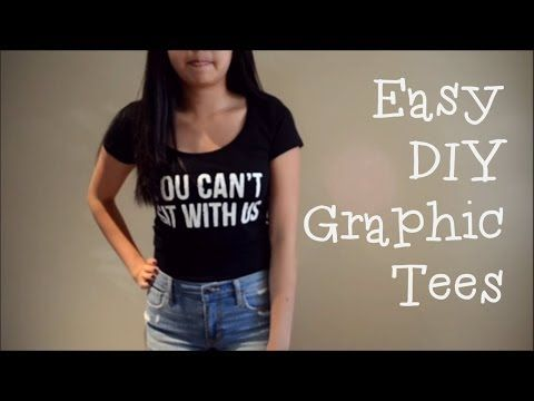 DIY Graphic Tees (without transfer paper) - YouTube »» This saved me. Works so well! :D