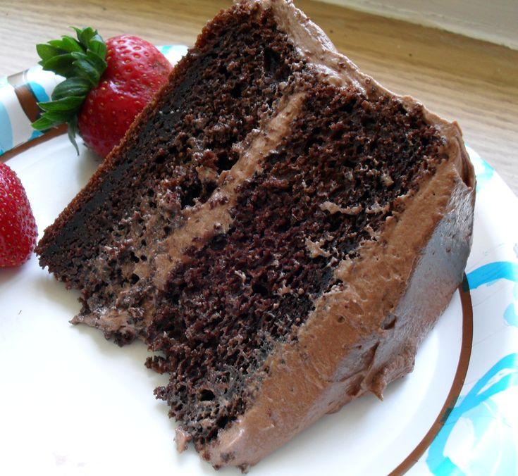 Sour cream buttermilk chocolate cake recipe