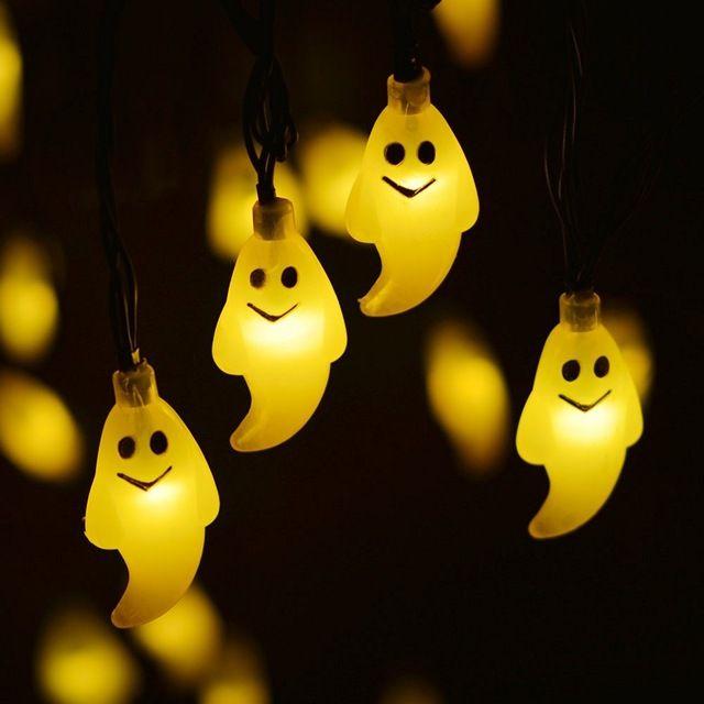 Fantasma de Halloween Luz Al Aire Libre Luces Solares de la Secuencia 30LED Luces De Navidad Al Aire Libre Decoración De Halloween Al Aire Libre