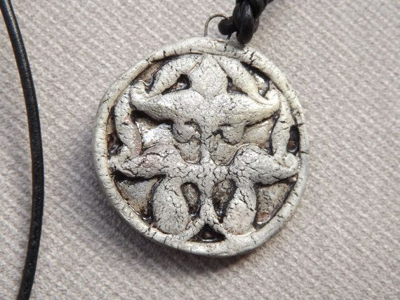 Ceramic raku pendant by BlueBirdyDesign on Etsy, €7.00