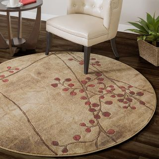 Copper Grove Uwharrie Red Floral Area Rug Beach House