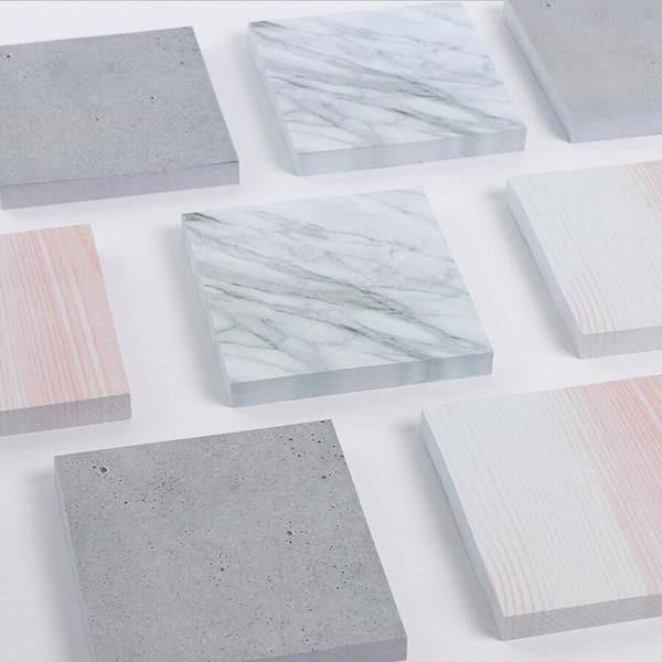 modern sticky notes marble pastel grey dusty pink office supplies memo