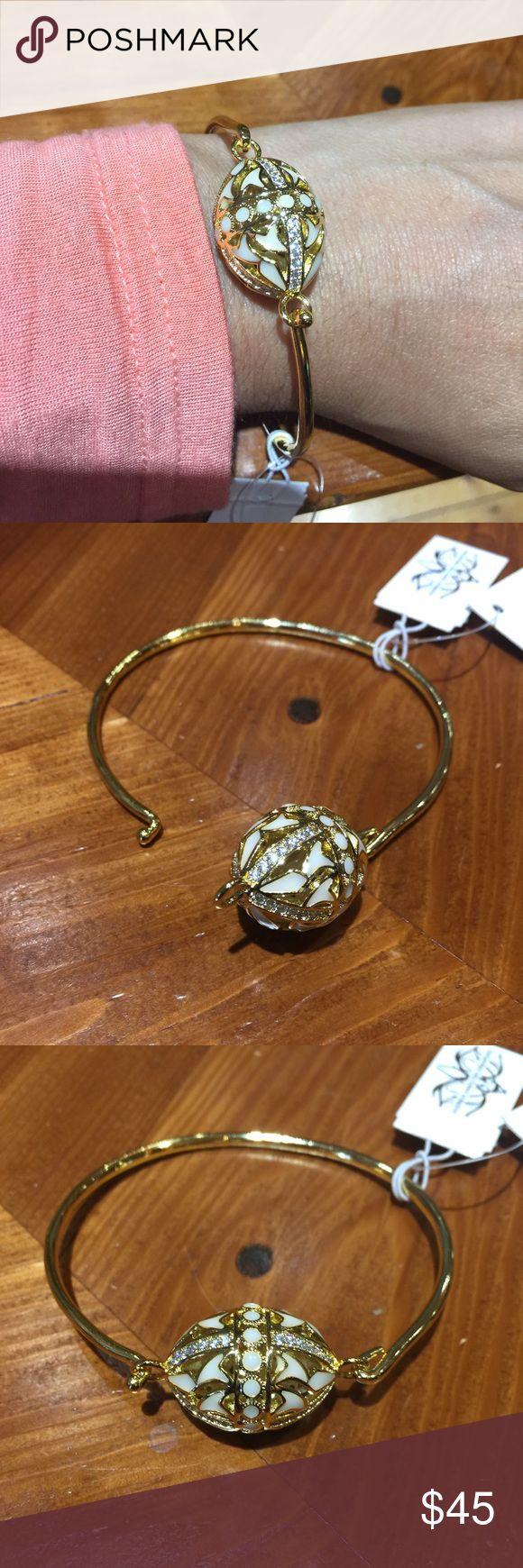 Amazing AHC Bracelet AHC Rondellette High Wire Gold & White Bracelet Anthony Hamilton Crawford  Jewelry Bracelets