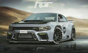 Wide-body Dodge Charger Hellcat Coupe
