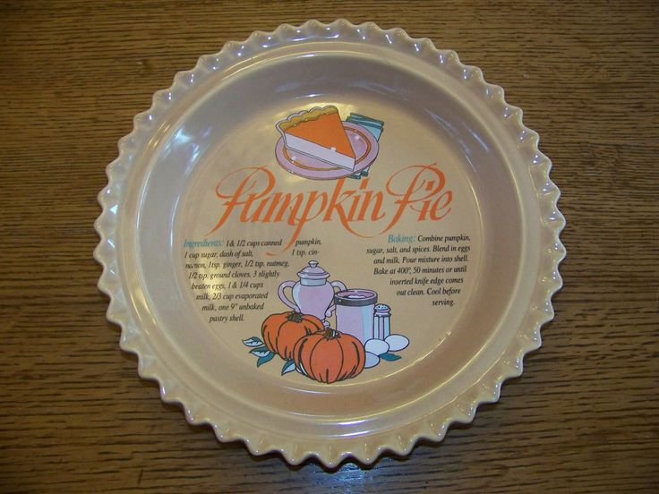 Pumpkin Pie Baking Dish with Recipe 9  Ceramic Fluted Edge Pie Plate & 124 best Recipe Pie Plates images on Pinterest | Dinner plates Dish ...