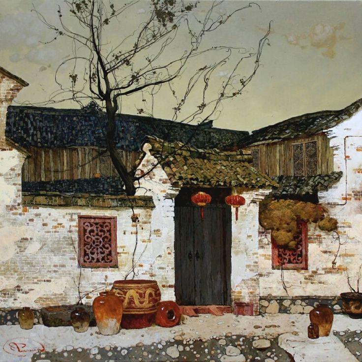 Autumn in Chien Tong #rogowoiart#paint#ukraine#paintingstillife#рисую#натюрморт#харьков#художник#живописец#landscape#oldhouse#ARTSTARSMAG#artstagram#painting#drawing#sketching#paintanyway#clouds#oil#oilpaint#contemporaryrealism#art#chinatown#china#tree#park#shanghai