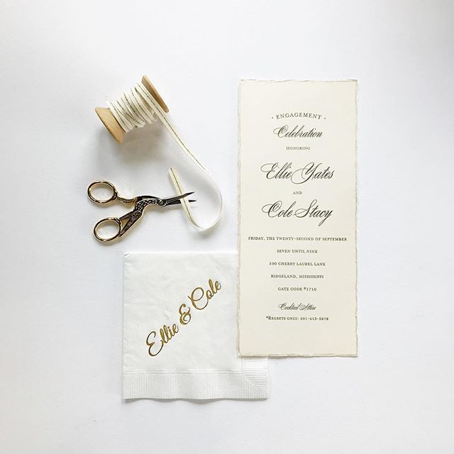 Such a fun celebration for Ellie & Cole!⠀ ⠀ .⠀ .⠀ .⠀ .⠀ .⠀ #weddingday #mississippiwedding #weddinginvitations #monogram #stationery #wedding #justmarried #invitations #custom #weddingprep #freshinkinspo #letsgetmarried #welovepeoplewholovepaper #southernwedding #getinspiredms #cheersyall #weddingplanner #letterpress #watercolor #calligraphy #mswedding #southernweddings #southernbride #theknot #theknotweddings #marthastewartweddings #msweddings #huffingtonpostweddings…