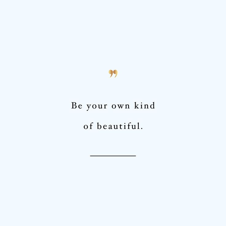 Be your own kind of beautiful! Browse our collection of inspirational wellness and fitness quotes and get instant training and weight loss motivation. Transform positive thoughts into positive actions and get fit, healthy and happy! http://www.spotebi.com/workout-motivation/be-your-own-kind-of-beautiful/