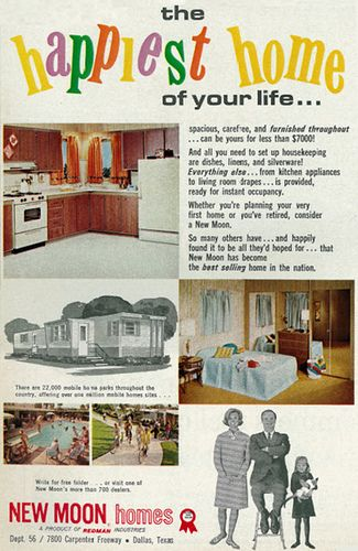 1966 Mobile Home Sales Ad New Moon Homes Dallas Texas
