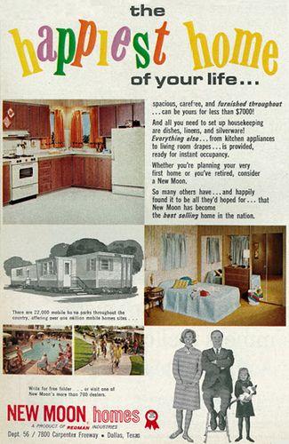 1966 Mobile Home Sales Ad, New Moon Homes, Dallas, Texas