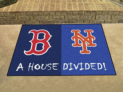 "MLB - Red Sox - Mets House Divided Rug 33.75""x42.5"""