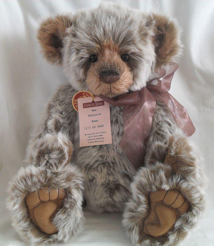 Charlie Bears William 1V Ltd Edition Large Plush Bear designed by Isabelle Lee