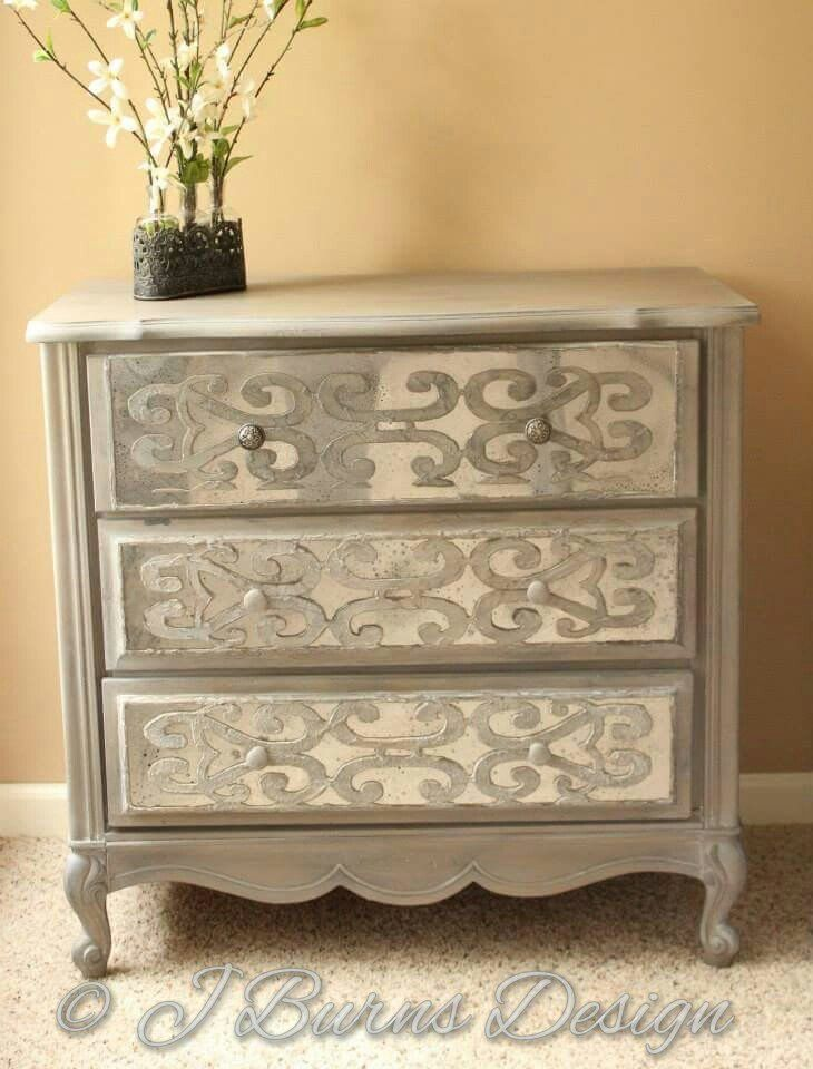 Best Diy Mirrored Chest With Overlays Painting Diy Mirrored 640 x 480