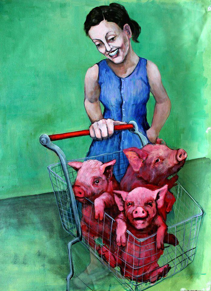 """""""What's in Your Cart"""" - art by Dana Ellyn"""