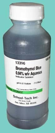 Bromothymol blue, indicator solution, 0.04% - 100ml