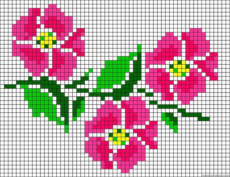 rosas en punto de cruz para imprimir Ideas de Manualidades
