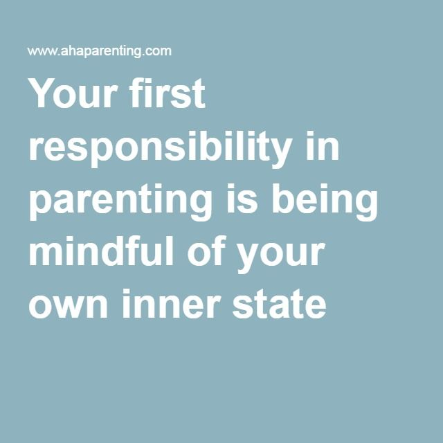 Your first responsibility in parenting is being mindful of your own inner state