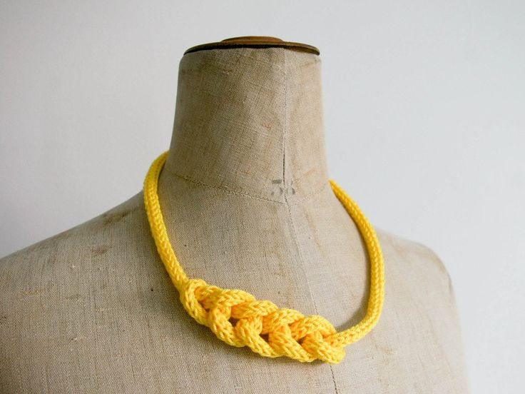 Necklace or headband French knit.