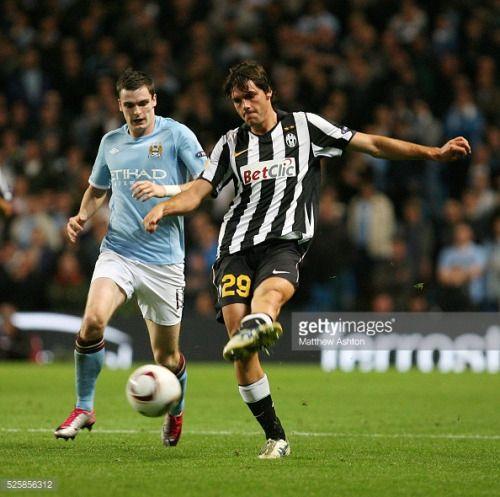 Adam Johnson of Manchester City and Paolo De Ceglie of Juventus... #cegliemessapico: Adam Johnson of Manchester City and… #cegliemessapico