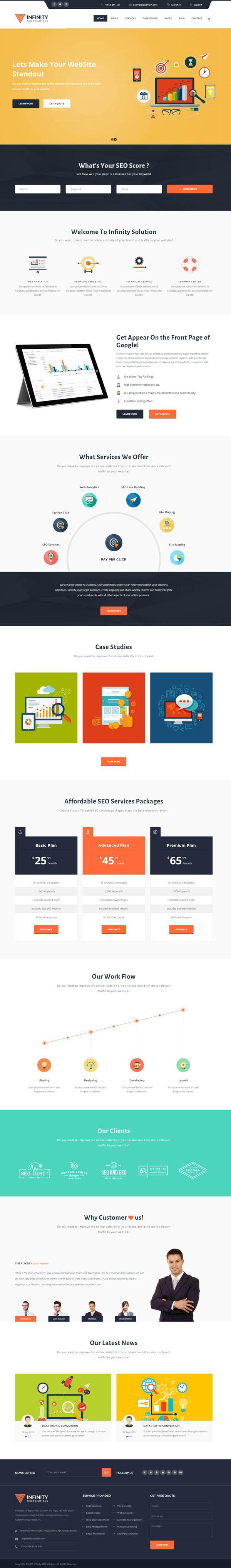 Best PSD Templates Images On Pinterest - Graphic design website templates