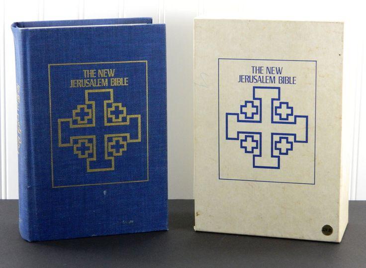 The New Jerusalem Bible Doubleday & Co. 1985 HC with Slipcase Color Maps 6117-3 by JacksonsMarket on Etsy