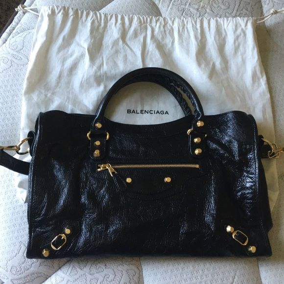 "New Balenciaga Giant 12 Gold city Satchel New one. Authentic. Doesn't fit me. Length 15"", hight 9.5"", width 15"", depth 5.5"", shoulder drop 7.5"". Retail price $1985. Balenciaga Bags Satchels"