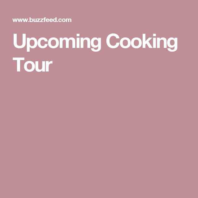 Upcoming Cooking Tour