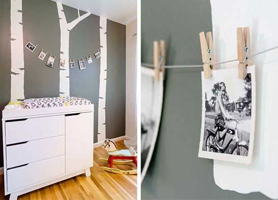 chambre b b compl te bebe trees and polaroid photos. Black Bedroom Furniture Sets. Home Design Ideas