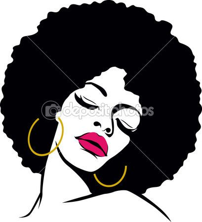 Afro hair hippie woman pop art - Stock Vector on Depositphotos