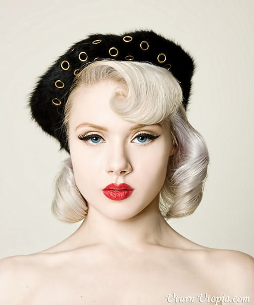 Makeup and hair is adorable. PINUP/ROCKABILLY look. Mosh by Yamileth Miller for Uturn Utopia.