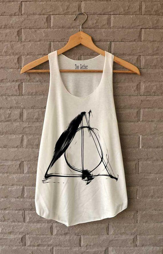 Deathly Hallows Zauber Hemd Harry Potter Karte von Teegethershop