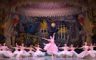 Maurice Sendak's Seattle Nutcracker - Pacific Northwest Ballet.  Really cool Sendak-style set - peacock costume and snow dance are amazing.  They abridge the story in some ways though and take out the scene with Mother Ginger and her skirt full of little ballerinas.