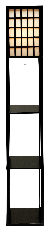 Middleton Shelf Black Floor Lamp   Home Design Ideas