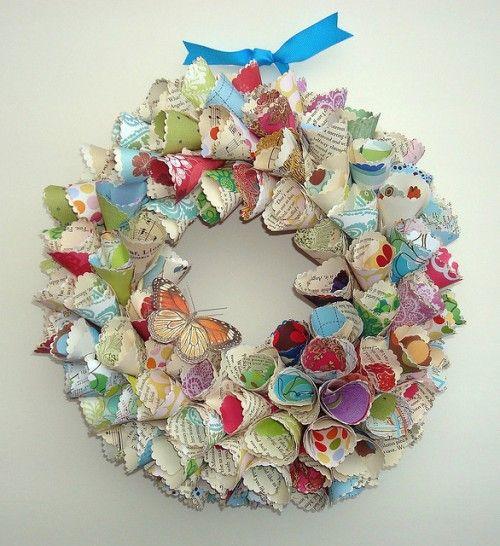 Vintage Inspired Paper Wreaths | Shelterness