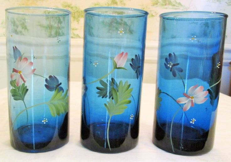 1000 images about glassware on pinterest tumblers for Hand painted drinking glasses