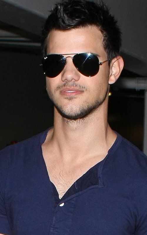 Taylor- RayBans and a Henley.  Yum.  Thankfully he is of legal age so I don't feel as dirty thinking he is hot.