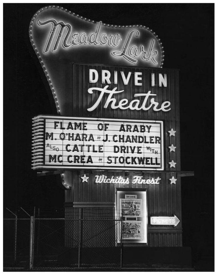 Meadow lark drivein theatre wichita kansas 1951