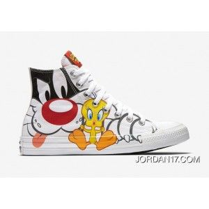 Free Shipping Converse Looney Tunes Sylvester Tweety 158886C-100 5a7b3f49e6a97